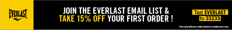 Text EVERLAST to 33233 to Join Everlast's Newsletter Get 15% Off First Order